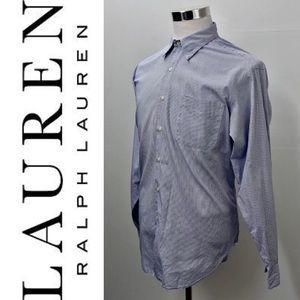 LAUREN RALPH LAUREN Checks Dress Shirt XL 17 34-35